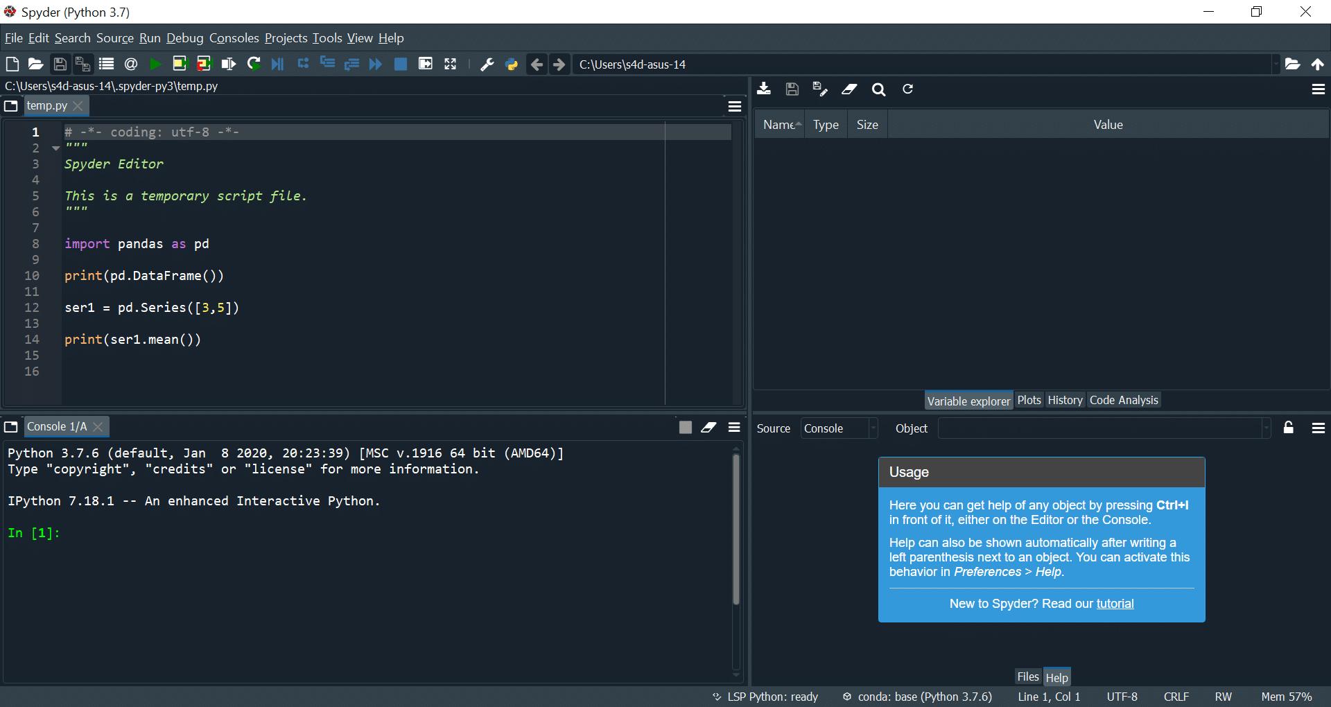 Spyder IDE