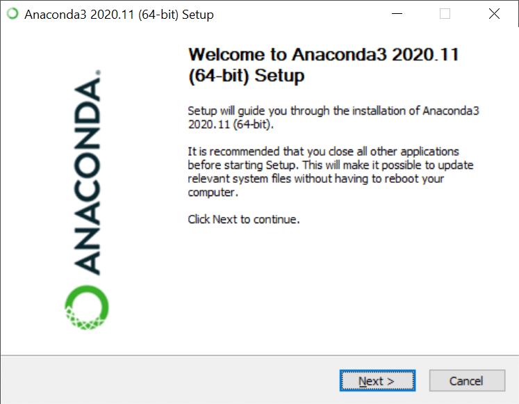 Installation anaconda